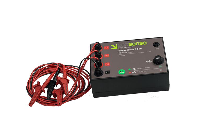Accsense Electrocorder DC-3V Three Channel DC Voltage Logger