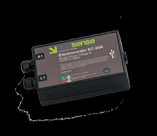 Accsense Electrocorder EC-2VA Single Phase Voltage and Current Data Logger