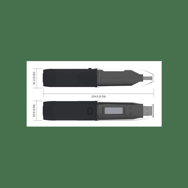 Lascar EL-USB-TP-LCD Dimensions