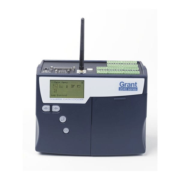 Grant SQ2040-4F16-WiFi Data Logger front view with screen
