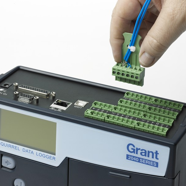 Grant SQ2040 Data Logger Top Connections