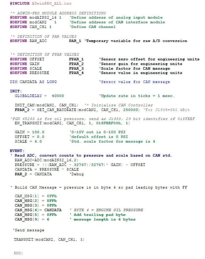 ADwin Pro-II Sample Program