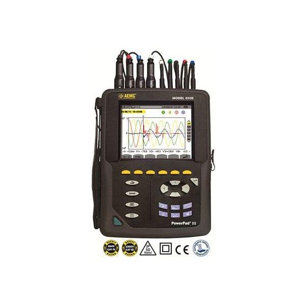 AEMC Powerpad III 8336 Three Phase Power Quality Analyzer