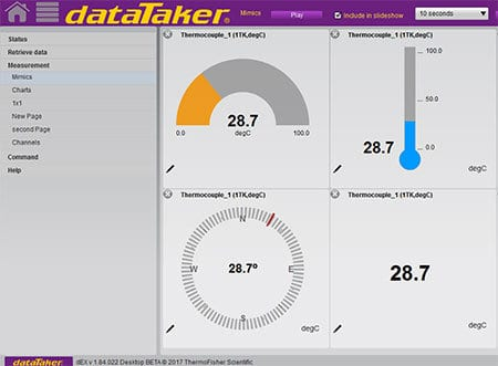 dataTaker dEX Software Mimics and Charts