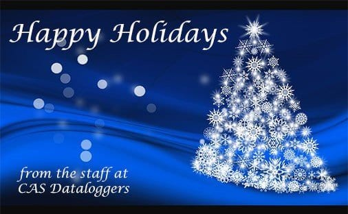 Happy Holidays from CAS DataLoggers