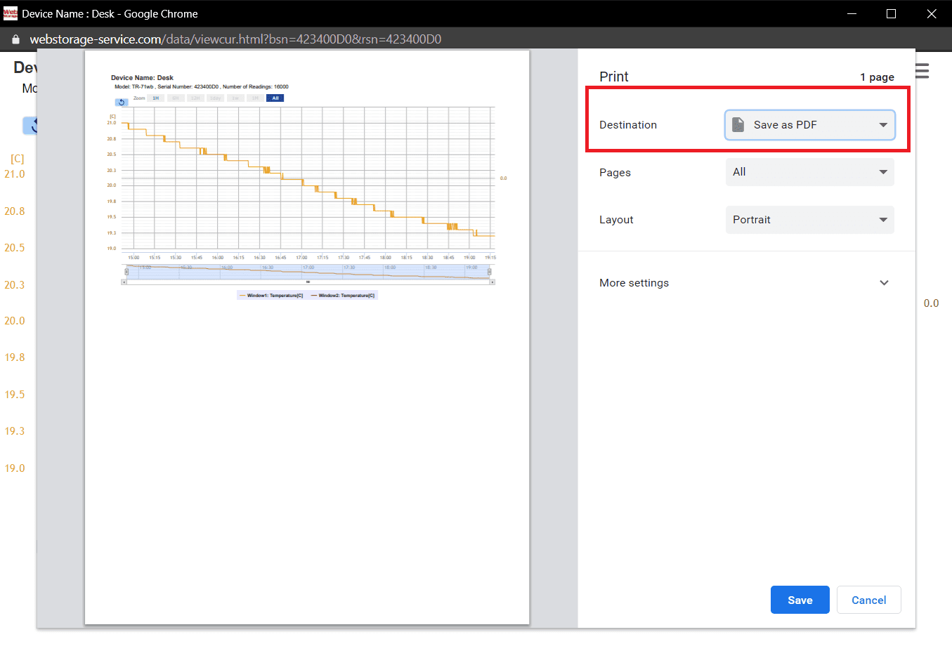 T&D graph issue
